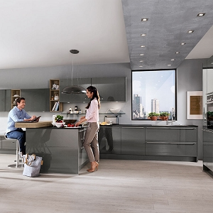 Kitchen Lux Slate Gray High Gloss