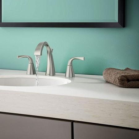 MOEN Oxby Faucet WS84661SNR Designer Bathrooms Moen Faucets Html on discontinued moen faucets, moen 4600 faucet, moen caldwell collection, moen single handle faucet repair, moen laundry faucet, moen replacement parts, moen bathtub fixtures, moen t6125, moen shower fixtures, moen bar sink, moen voss, moen handicap faucets, moen two handle lavatory faucet, moen kingsley faucet, moen faucet models, moen faucets brand, moen water faucets, moen faucet repair parts 97556, moen shower systems, moen monticello faucet repair,