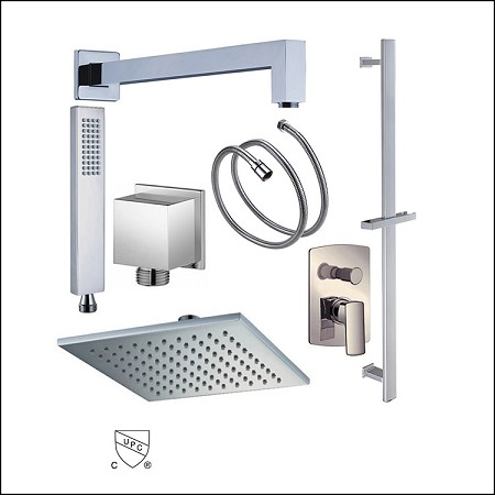 Shower Set Quadro Diverter 8""