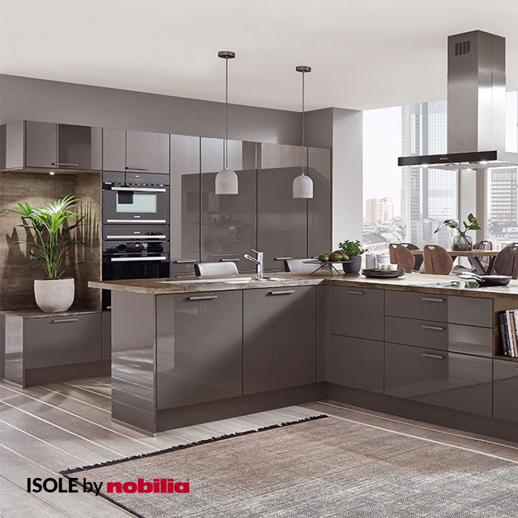 Kitchen Flash Slate Gray High Gloss