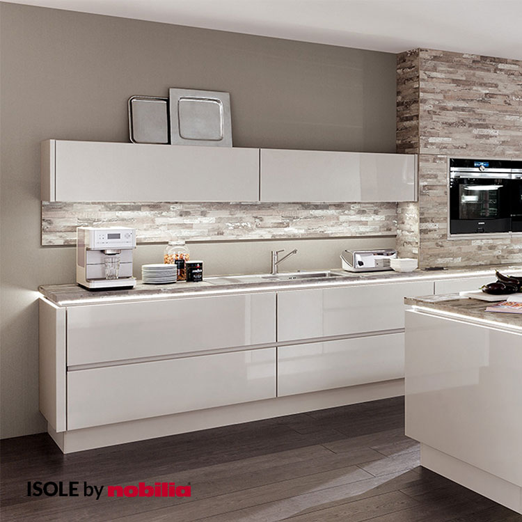 Kitchen Lux Satin Gray High Gloss