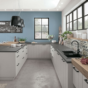 Kitchen Gent Lacquered Laminate Stone Grey