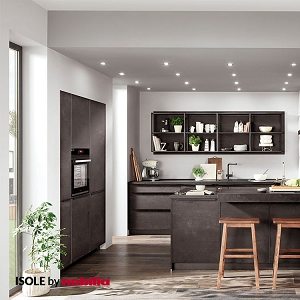 Kitchen Speed Black Concrete Reproduction