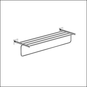Neoclassic Towel Shelf with Bar